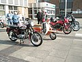 Nostalgia inducing motorbikes awaiting the start of the 2009 Havant Mayor's Rally (1) - geograph.org.uk - 1259809.jpg