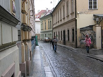 New Town, Prague - A street in the New Town.