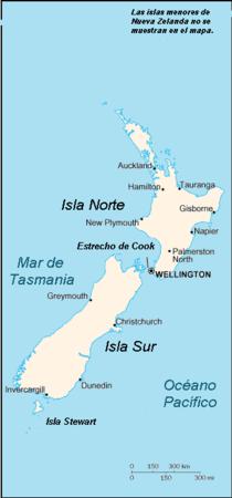 Mar De Tasmania Mapa.Nueva Zelanda Wikipedia
