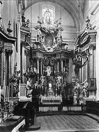 St. Martin's Church, Warsaw - The interior before 1939.