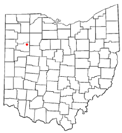 Location of Beaverdam, Ohio