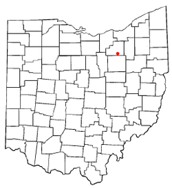 Location of Seville, Ohio