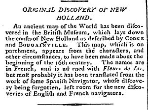 Dieppe maps - Newspaper article of 4 February 1790
