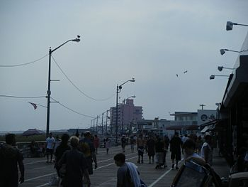 A view of the boardwalk in Ocean City, New Jer...