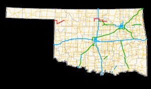 Oklahoma State Highway 15 - Image: Ok 15 path