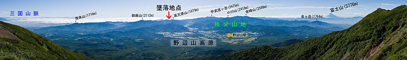 ファイル:Okuchichibu Mountains from Mt.Yokodake 01-4.jpg