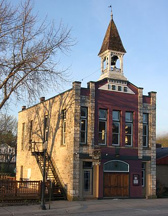 Lanesboro, Minnesota - The Old Village Hall, listed on the National Register of Historic Places as part of the Lanesboro Historic District.