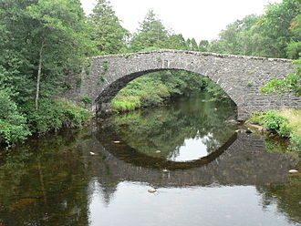 Ardmolich - Image: Old bridge at Kinlochmoidart