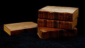 Chambaud's Dictionary. Some old leather-bound ...