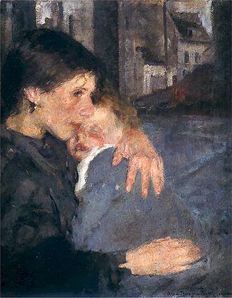 Olga Boznańska - Image: Olga Boznańska 1902 Macierzynstwo