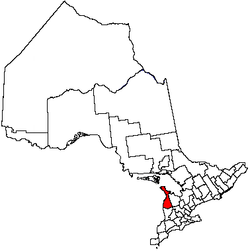 Location of Bruce County, of which Chesley is centrally located