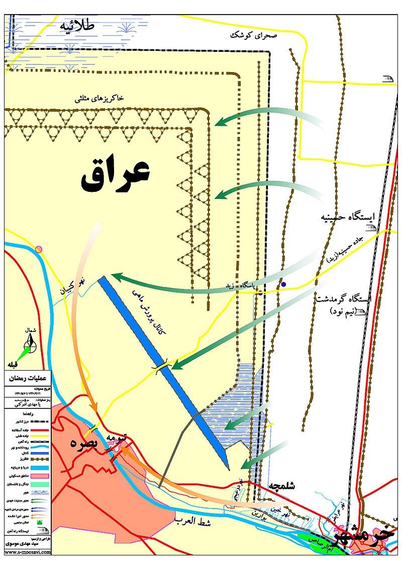 Operation Ramadan, Map.jpg