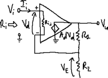 Operational amplifier with non-ideal input resistance.png
