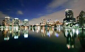 English: Orlando Skyline at night