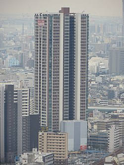 Osaka Fukushima Tower Views from Umeda Sky Building IMG 0784 20130112.JPG