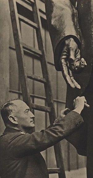 Otakar Špainel pomník Masaryka.jpg