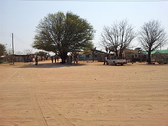 Otjinene - Public place in the centre of the village