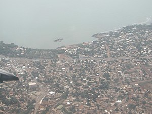 Timeline of Conakry - Aerial view of Conakry, 2004