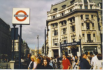 English: Oxford Circus Busy transport node on ...