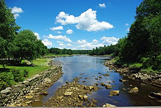 Oyster River (New Hampshire) - Oyster River at head of tide in Durham, New Hampshire