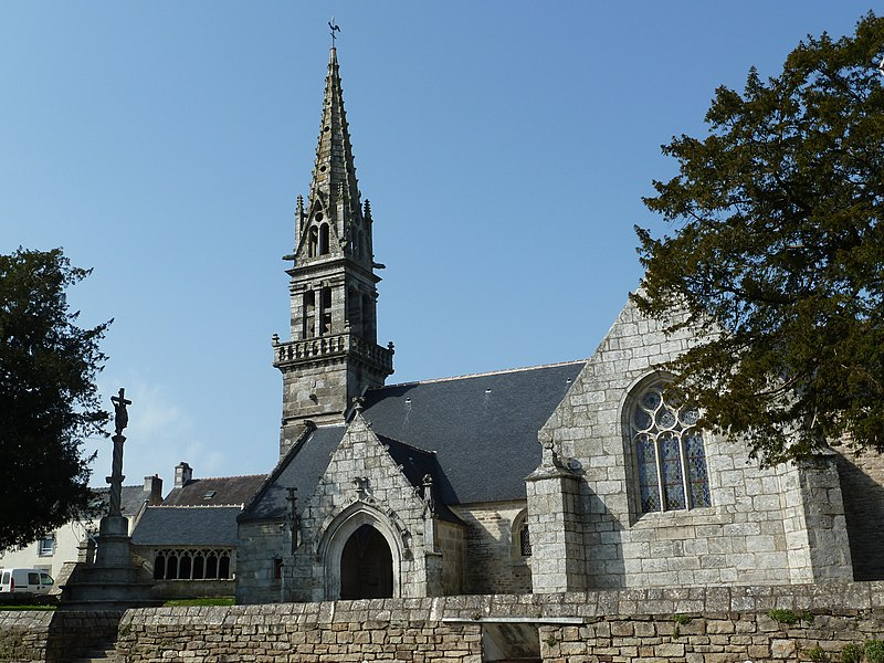 St. Mary's church in Saint-Yvi, Finistère, Brittany, France