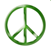 A peace sign, which is widely associated with pacifism.