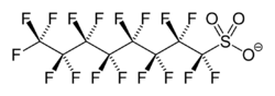 Perfluorooctane sulfonate anion