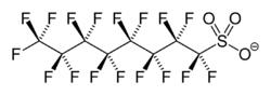Struktur von Perfluoroctansulfonat