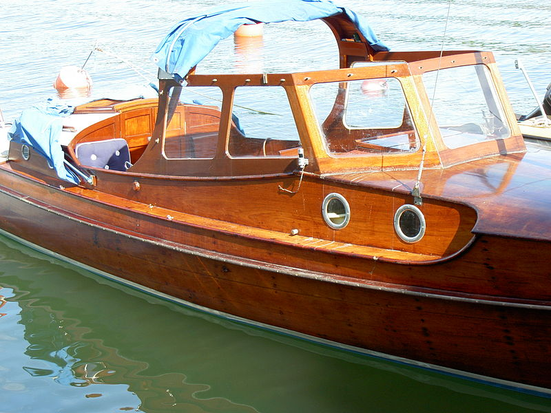 Wooden Boat by Swedish boat builder Carl Gustav Pettersson