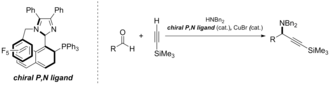 Atropisomer - Example of use of P,N ligand for asymmetric catalysis