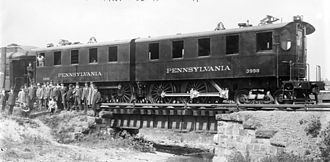 PRR DD1 electric locomotive used in the New York terminal area and tunnels PRR DD1.jpg