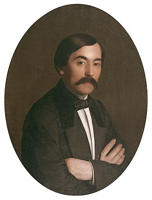 P. G. T. Beauregard - Pierre G. T. Beauregard as a young man, painting by Richard Clague