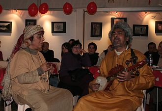Paban Das Baul - Mimlu Sen and Paban Das Baul, Baul musicians, at International Asian Movies festival in Vesoul, France