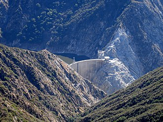 Pacoima Dam - The Pacoima Dam, viewed from Contract Point.