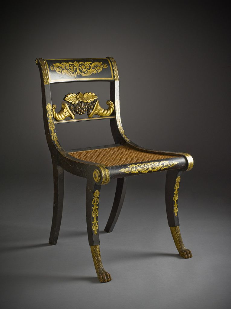 Stylish Recliner: File:Pair Of Side Chairs, 'Klismos' Style LACMA M.2006.51