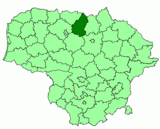 Pakruojis district location.png