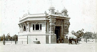"Buenos Aires Zoo - The ""Palace of the Elephants"", inspired by a Hindu temple architecture, as seen in 1904."