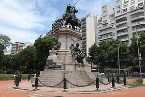 Palermo, Buenos Aires - Monument to Giuseppe Garibaldi and Plaza Italia, a focal point of Old Palermo