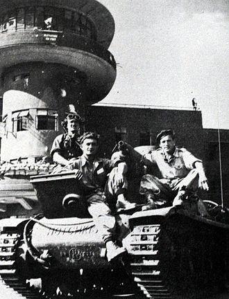 8th Armored Brigade (Israel) - 8th Armoured Brigade captures Lydda airport (1948)
