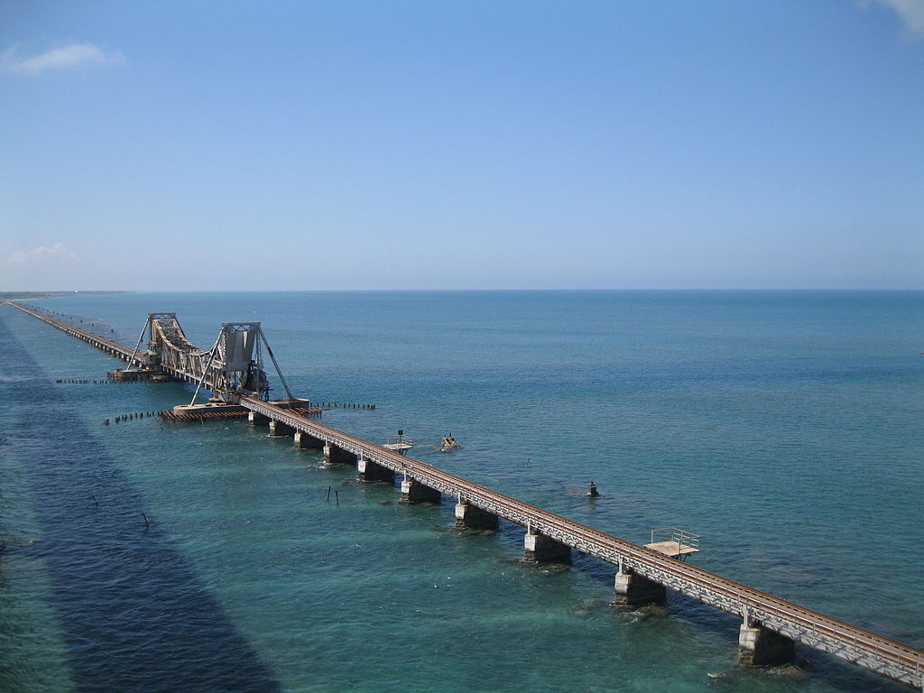 Pamban bridge near rameshwaram