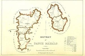 Panchmahal district - Panch Mahals district, 1896