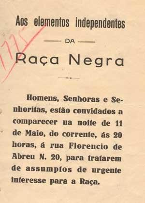 Frente Negra Brasileira - Frente Negra Brasileira Pamphlet