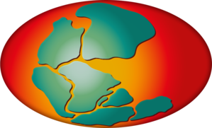 PANGAEA (data library) - The PANGAEA logo shows the supercontinent Pangaea at about 150 Million years ago in an artistic vision.