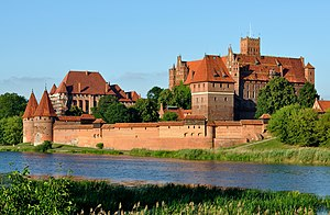 Malbork Castle viewed from across the Nogat river