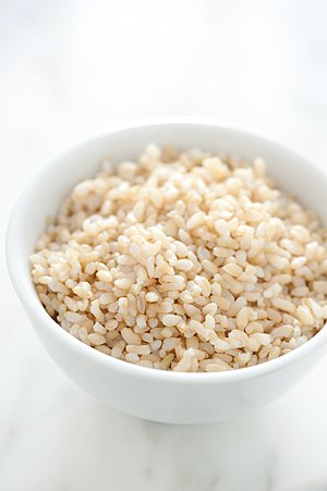 Par cooked brown rice.