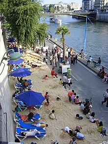 Paris plages wikip dia - Piscine plage paris asnieres sur seine ...