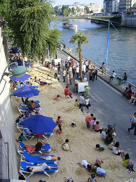 Une plage pour l'édition 2009