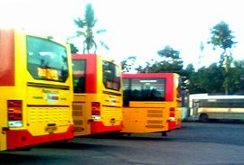 Parked Metro Luxury Buses at Visakhapatnam Bus station.jpg
