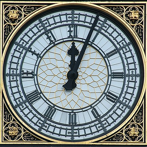 """Parliament Clock Westminster"" by Aldaron — Aldaron, a.k.a. Aldaron - Flickr. Licensed under Creative Commons Attribution-Share Alike 2.0 via Wikimedia Commons - http://commons.wikimedia.org/wiki/File:Parliament_Clock_Westminster.jpg#mediaviewer/File:Parliament_Clock_Westminster.jpg"