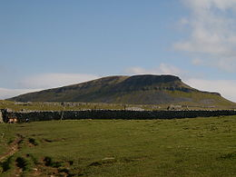 View of Pen-y-ghent as seen from the ascent from Horton